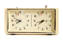 Παλαιό μηχανικό ρολόι σκακιού Στοκ Εικόνα