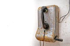 Παλαιό μη χρησιμοποιούμενο βιομηχανικό τηλέφωνο Στοκ Εικόνες