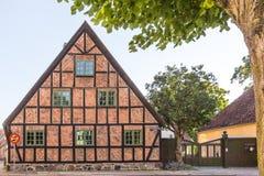 Παλαιό μισό-εφοδιασμένο με ξύλα σπίτι στο Lund Στοκ εικόνα με δικαίωμα ελεύθερης χρήσης