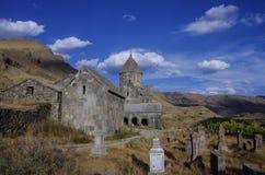 Παλαιό μοναστήρι πετρών στην περιοχή Vorotnavank Syunik βουνών, Στοκ εικόνα με δικαίωμα ελεύθερης χρήσης