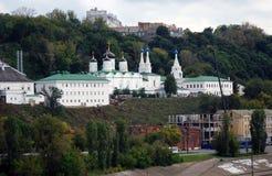 Παλαιό μοναστήρι σε Nizhny Novgorod, Ρωσία. στοκ εικόνες