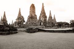 Παλαιό μοναστήρι ayutthaya Στοκ Φωτογραφία