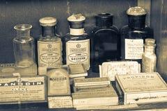 Παλαιό μουσείο φαρμακείων στοκ εικόνα
