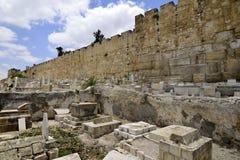 Παλαιό μουσουλμανικό νεκροταφείο στην Ιερουσαλήμ, Στοκ Φωτογραφία