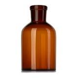 Παλαιό μπουκάλι φαρμακείων για τα φάρμακα που απομονώνονται στο λευκό Στοκ φωτογραφία με δικαίωμα ελεύθερης χρήσης