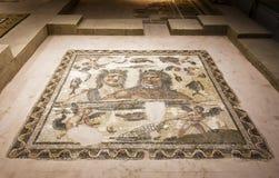 Παλαιό μωσαϊκό στο μουσείο αρχαιολογίας Hatay, Τουρκία Στοκ Εικόνες