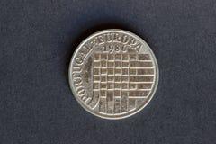 Παλαιό νόμισμα 25 ασπίδες Στοκ φωτογραφία με δικαίωμα ελεύθερης χρήσης