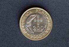 Παλαιό νόμισμα 200 ασπίδες Στοκ φωτογραφία με δικαίωμα ελεύθερης χρήσης