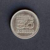 Παλαιό νόμισμα 25 ασπίδες Στοκ φωτογραφίες με δικαίωμα ελεύθερης χρήσης