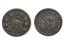 Παλαιό νόμισμα Ινδία Στοκ Εικόνες