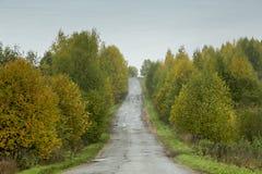 παλαιό ξεχαρβαλωμένο χωριό σπιτιών φθινοπώρου Στοκ Εικόνα