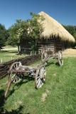 Παλαιό ξύλινο βαγόνι εμπορευμάτων σανού Στοκ φωτογραφία με δικαίωμα ελεύθερης χρήσης