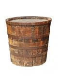 Παλαιό ξύλινο βαρέλι grunge απομονωμένος Στοκ φωτογραφία με δικαίωμα ελεύθερης χρήσης