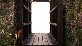 Παλαιό ξύλινο και παλαιό πλαίσιο τούβλου Στοκ φωτογραφίες με δικαίωμα ελεύθερης χρήσης