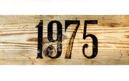 1975 παλαιό ξύλινο κιβώτιο Στοκ φωτογραφία με δικαίωμα ελεύθερης χρήσης