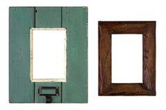 Παλαιό ξύλινο πλαίσιο εικόνων - που απομονώνεται Στοκ φωτογραφία με δικαίωμα ελεύθερης χρήσης