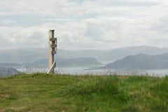Παλαιό ξύλινο σημάδι στη φύση Στοκ Φωτογραφίες