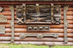 Παλαιό ξύλινο σχέδιο τοίχων Στοκ Εικόνες