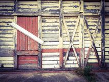 Παλαιό ξύλινο υπόβαθρο κεραμιδιών τοίχων Στοκ Φωτογραφία