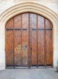Παλαιό ξύλινο υπόβαθρο πορτών (Οξφόρδη) Στοκ Εικόνα