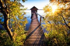 Παλαιό ξύλινο boathouse Στοκ Εικόνα