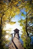Παλαιό ξύλινο boathouse Στοκ εικόνα με δικαίωμα ελεύθερης χρήσης