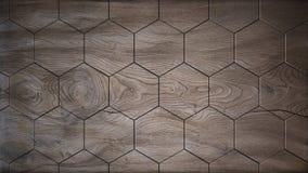 Παλαιό ξύλινο hexagons υπόβαθρο Στοκ φωτογραφία με δικαίωμα ελεύθερης χρήσης