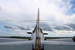 Παλαιό οπίσθιο τμήμα αεροπλάνων μαχητών αμερικανικό Στοκ φωτογραφία με δικαίωμα ελεύθερης χρήσης