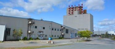 Παλαιό ορυχείο του Jeffrey αμιάντων οικοδόμησης Στοκ Φωτογραφίες