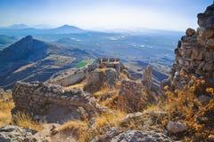 Παλαιό οχυρό σε Corinth, Ελλάδα Στοκ εικόνες με δικαίωμα ελεύθερης χρήσης