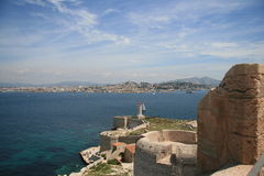 Παλαιό οχυρό στο νησί στο νότο της Γαλλίας. Στοκ Εικόνες