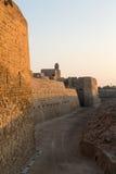 Παλαιό οχυρό του Μπαχρέιν σε Seef σε αργά το απόγευμα Στοκ Εικόνες
