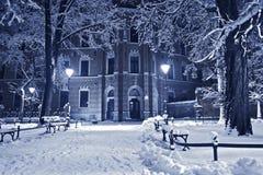 Παλαιό πάρκο το χειμώνα Στοκ Φωτογραφίες