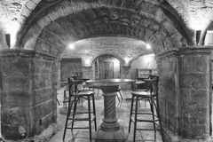 Παλαιό πέτρινο εσωτερικό σπιτιών Στοκ Φωτογραφίες
