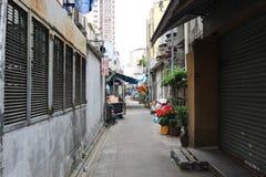 παλαιό πίσω Χονγκ Κονγκ αλεών Στοκ Εικόνα
