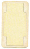 Παλαιό παίζοντας υπόβαθρο εγγράφου καρτών κενό με τη γραμμή Στοκ εικόνα με δικαίωμα ελεύθερης χρήσης