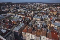 Παλαιό πανόραμα πόλεων Lviv Ουκρανία, Ευρώπη Στοκ φωτογραφία με δικαίωμα ελεύθερης χρήσης