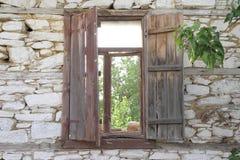 παλαιό παράθυρο ξύλινο Στοκ Φωτογραφία