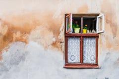 παλαιό παράθυρο ξύλινο Στοκ εικόνες με δικαίωμα ελεύθερης χρήσης