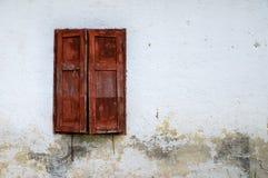 παλαιό παράθυρο ξύλινο Στοκ Εικόνες