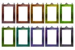 Παλαιό παλαιό πλαίσιο στο διαφορετικό χρώμα Στοκ Εικόνα