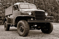 Παλαιό παλαιό φορτηγό αμερικάνικου στρατού φορτίου Στοκ εικόνες με δικαίωμα ελεύθερης χρήσης