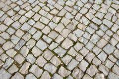 Παλαιό πεζοδρόμιο βασαλτών Στοκ Εικόνες