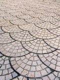 παλαιό πεζοδρόμιο κυβόλ&iot - Εικόνα αποθεμάτων Στοκ Εικόνες