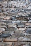 Παλαιό πεζοδρόμιο μετά από τη βροχή Στοκ φωτογραφία με δικαίωμα ελεύθερης χρήσης