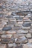 Παλαιό πεζοδρόμιο μετά από τη βροχή Στοκ φωτογραφίες με δικαίωμα ελεύθερης χρήσης