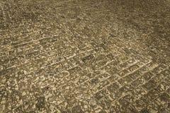 Παλαιό πεζοδρόμιο τούβλου πετρών Στοκ φωτογραφίες με δικαίωμα ελεύθερης χρήσης