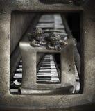 Παλαιό πιάνο τέχνης στοκ φωτογραφίες