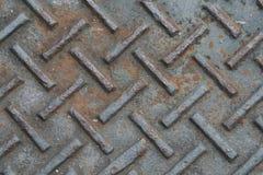 παλαιό πιάτο μετάλλων σκο Στοκ Φωτογραφία
