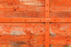 Παλαιό πορτοκαλί ξύλινο υπόβαθρο Στοκ Εικόνα
